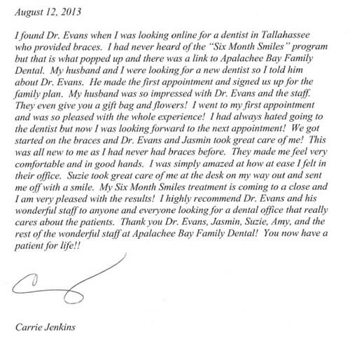 Dental Patient Testimonial